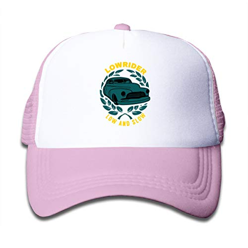 - Lowrider Low and Slow Kid's Mesh Back Cap Trucker Baseball Hat for Girls Boys' Pink
