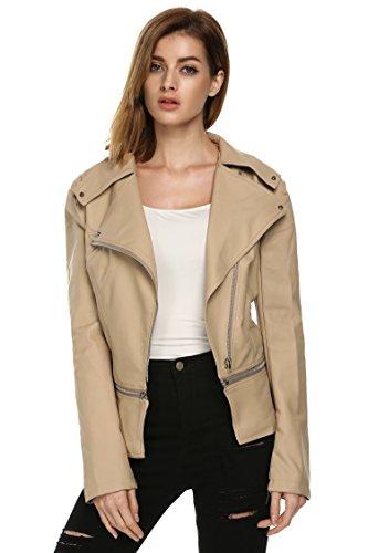 UPC 748690298481, ANGVNS Women's Faux Leather Power Shoulder Coat Jacket