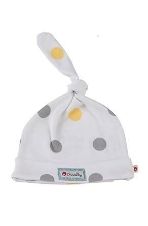 Piccalilly algodón Gris orgánico y Amarillo Sombrero Manchas ...