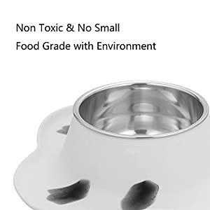 MLCINI Personalized dog bowl with mat, Dog Food Water Stainless Steel Bowls with non slip Colorful Silicone Mat for Dogs Cats