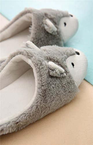 Women Ladies Winter Thermal Thick Coral Fleece Slippers Feet Warmer Cozy Comfort Antiskid Slip-On House Slippers Footwear Shoes, 3D Fox Design by Fakeface (Image #7)