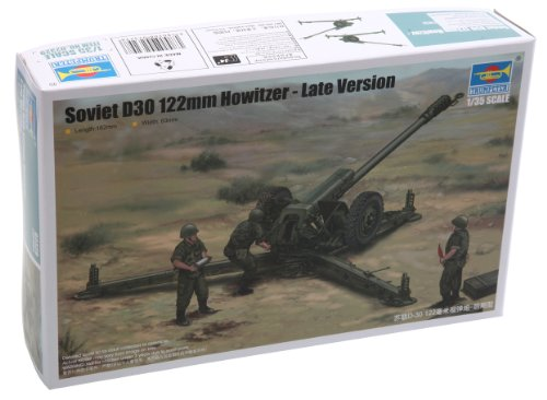 Trumpeter Late Version D30 Soviet Howitzer Vehicle Building Kit, 122mm, Scale 1/35