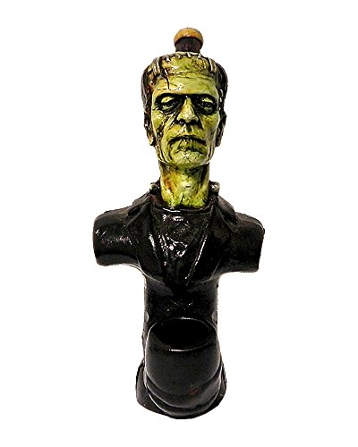 Frankenstein Smoking Pipe - Handmade Tobacco Pipe - Hand Pipe - Collectibles - Universal Monster - Classic Horror - Halloween - Scary Spooky ()