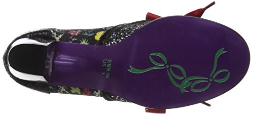 by O Licence Red Corporate Poetic para Irregular Choice Brogue Black Mujer Zapatos Beauty Negro de Cordones 65qdZwad