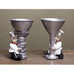 Wine Holder French Chef Waiter Decorative Display