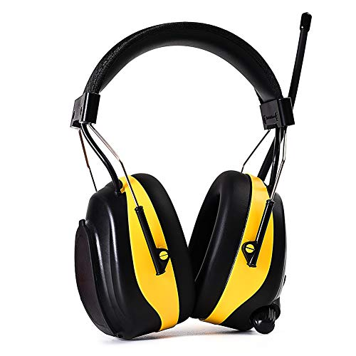 DIPFSUC Rechargeable Bluetooth AM/FM Radio Headphones,Wireless Hearing Protection Safety Work Ear Muffs with 1200mAh Li-ion Battery,NRR 25dB Noise Cancelling Headsets for Lawn Mowing/Construction by DIPFSUC (Image #1)