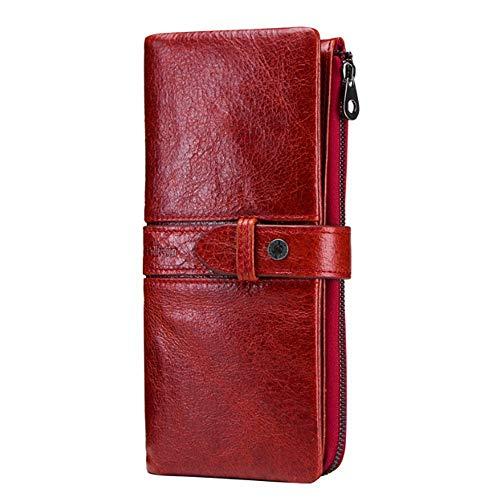 In Ywzhushengmaoyi Red Lungo Clutch Con Portafoglio Casual Fibbia Per Pelle q7XvFw7Z