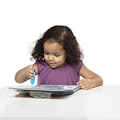 Melissa & Doug On the Go Water Wow! Around Town Deluxe (The Original Reusable Water-Reveal Activity Pad, Chunky-Size Water Pen, Great Gift for Girls and Boys - Best for 3, 4, 5, 6, and 7 Year Olds): Toy: Toys & Games