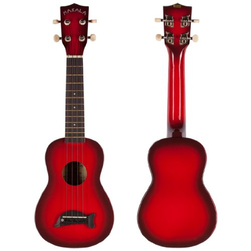 Makala Dolphin Bridge Red Burst Soprano Ukulele