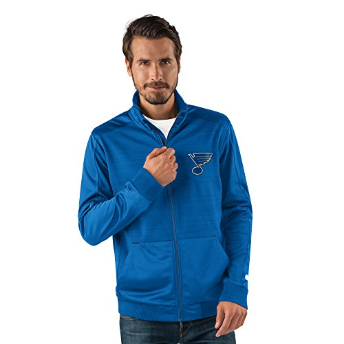 NHL St. Louis Blues Men's Progression Full Zip Track Jacket, X-Large, Royal Louis Jacket