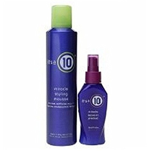 it's a 10 miracle leave-in product & miracle styling mousse, 1 ea (Styling Its Miracle A Mousse 10)