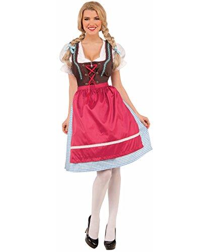 Forum Women's Schatzi the Bavarian Oktoberfest Girl Costume, As Shown, (Beer Wench Hair)
