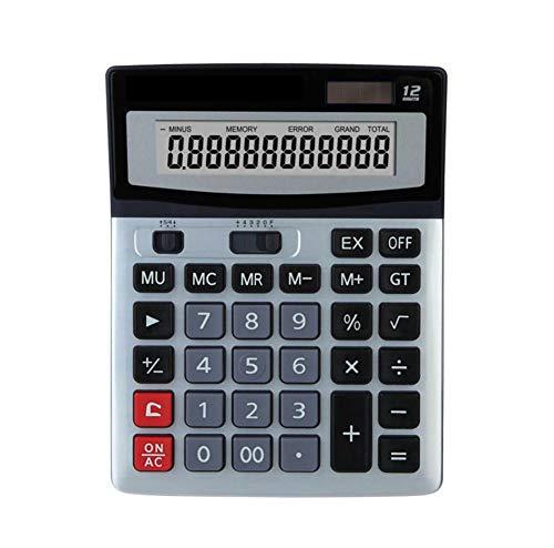 Calculator 12-bit Large Screen Dual Power Computer Financial