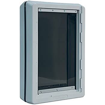 Amazon petsafe wall entry pet door with telescoping tunnel ideal pet products designer series ruff weather pet door with telescoping frame extra large 975 x 17 flap size fandeluxe Gallery