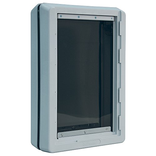 "Ideal Pet Products Designer Series Ruff-Weather Pet Door with Telescoping Frame, Extra Large, 9.75"" x 17"" Flap Size"