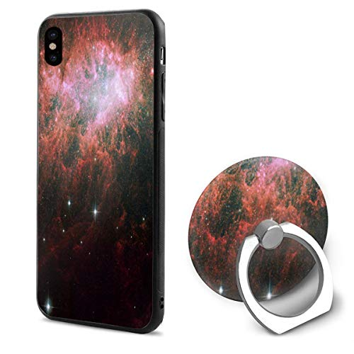 Phone X Case Starburst in A Dwarf Irregular Galaxy Ring Cell Phone Holder Adjustable 360° Rotation Mobile Phone Stand A Trading Ultra Thin PC Hard Lightweight Protection Cover (Adjustable Ring Starburst)