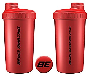 Amazing Nutrition Shaker - Rot - 700ml - BPA-frei - Ideal für deinen Eiweiß...