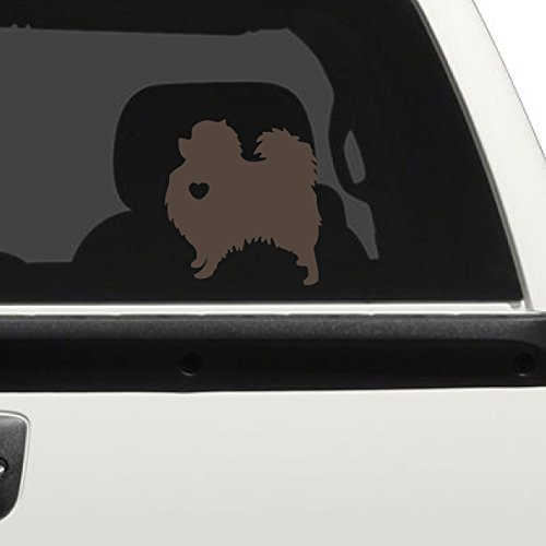 I Love My Pomeranian Car Decal, Brown, 6