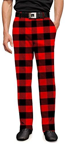 Loudmouth Golf Mens Pants - Lumberjack  - Size 36x34