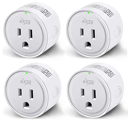 Smart Plug, KMC WIFI MiNi Outle Works with Alexa, Google Home & IFTTT, Smart Life, No Hub Required, Remote Control Your Home Appliances from Anywhere, ETL Certified,Only Supports 2.4GHz Network(4 Pack