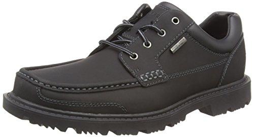 Rockport Redemption Road MOC Toe, Chaussures à Lacets Homme Noir