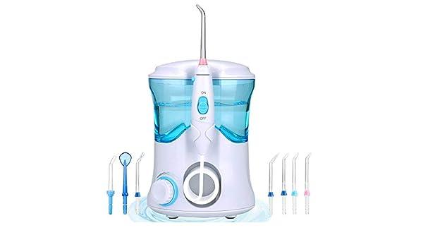 purificador de agua Oral de la Aspersor Oral, chorro de agua de limpieza del diente impermeable Profesional de Cuidado dental para, 7 Boquillas para en casa y de viaje: Amazon.es: Salud y