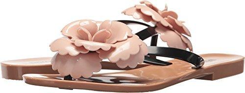 Melissa Women's Harmonic Flower Thong Sandals, Beige/Pink, 6 B(M) US