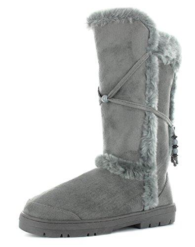 Ella Shoes TILLY - Botas de Material Sintético para mujer Gris - gris