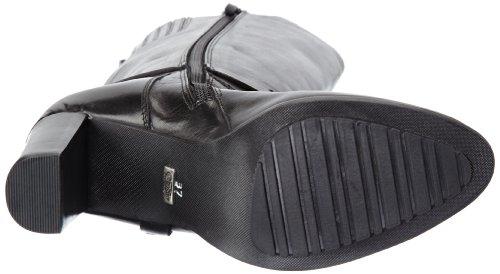 Buffalo London 1019-4-1 N COW - Botas clásicas de cuero mujer negro - Schwarz (BLACK 01)
