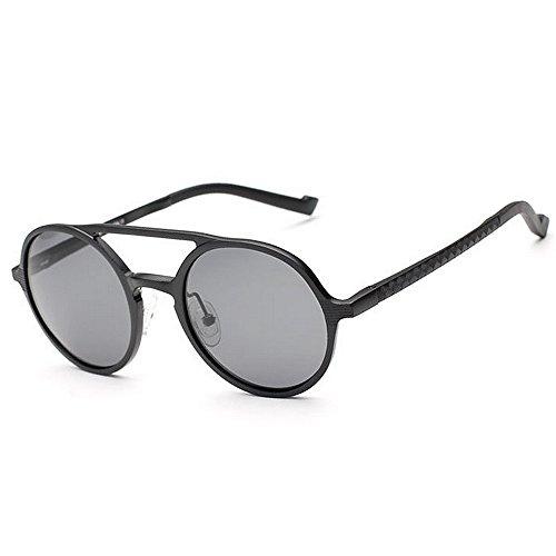 Round Yxsd Sol Sun de Gafas Black Gafas Color Black Metal Frame polarizadas Retro Classic 5 Colors Unisex 1wYU1rn