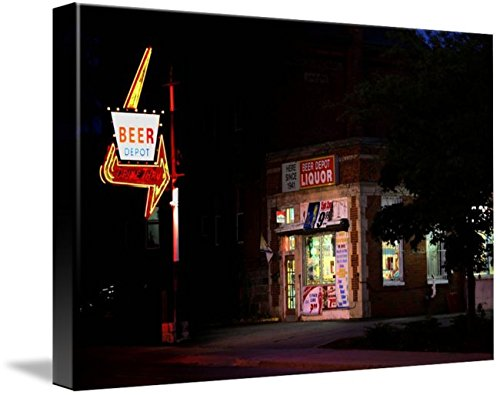 Wall Art Print entitled Ann Arbor Street Scenes - Beer Depot by Pat Cook | 32 x (Party Store Ann Arbor)