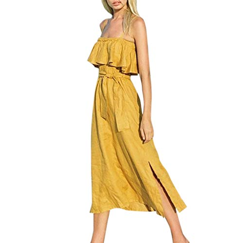 Qpika Womens Fashion Strapless Dress Sexy Ladies Strap Tube Fold Pleated Solid Dresses