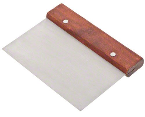 Update International WDS-36 Stainless Steel Dough Scraper with Wood Handle, 6-Inch