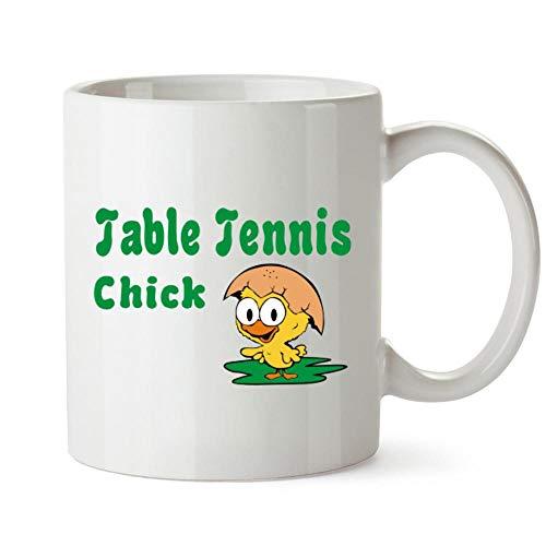 Idakoos Table Tennis Chick Mug 11 ounces