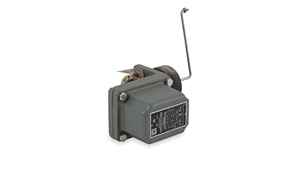 Square D 9037 Closed-Tank Float Switch with Bushing for Power Circuit, Side Mount, NEMA 4, Left Float Position, 45-Deg. Float Rod Angle, Contacts Close on ...