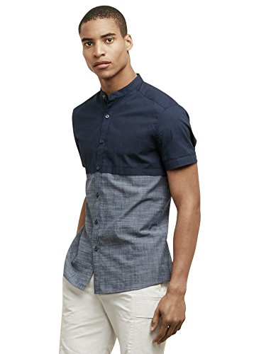 Kenneth Cole REACTION Men's Ss Cllrbnd, Indigo, X-Large