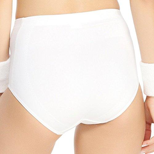 Yvette alta cintura bragas de las mujeres deportes 6085 - Soporte/comodidad# Blanco - blanco