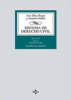 Sistema De Derecho Civil: Volumen Iv (tomo 1) Derecho De Familia por Luis Díez-picazo epub