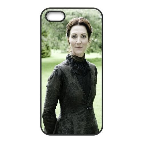 Catelyn Stark2 coque iPhone 4 4S cellulaire cas coque de téléphone cas téléphone cellulaire noir couvercle EEEXLKNBC24065