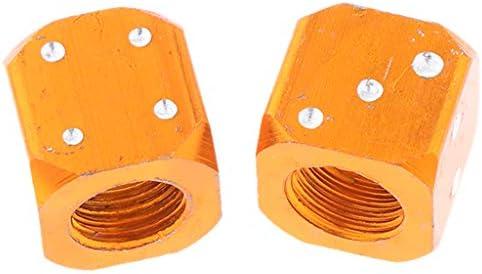 エアキャップダイス エアバルブキャップ 車 タイヤ ホイール 外装 ドレスアップ アクセサリー 全5色 - オレンジ