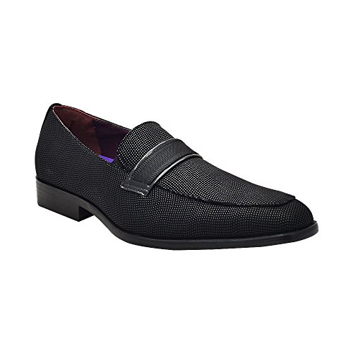 AFTER MIDNIGHT 6705 Mens Smoker Loafers Black Size 10.5 iUnPM