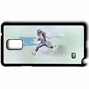 Personalized Samsung Note 4 Cell phone Case/Cover Skin 14376 marshawn lynch by goldenisthyseahawk d3enhhx Black