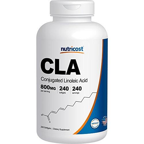 Nutricost CLA (Conjugated Linoleic Acid) 800mg, 240 Soft Gels