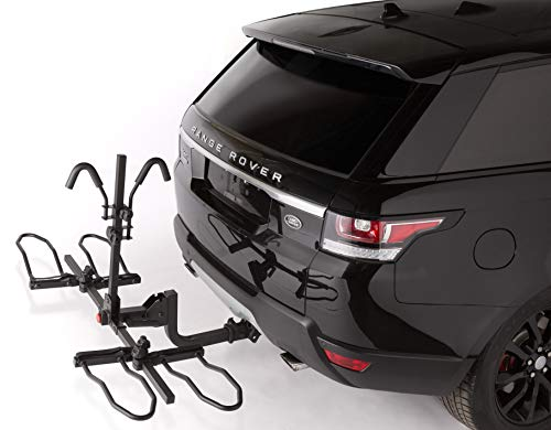 Smart Spare Tire - Overdrive Sport 2-Bike Hitch Mounted Rack - Smart Tilting, Platform Style Standard, Fat Tire Electric Bikes