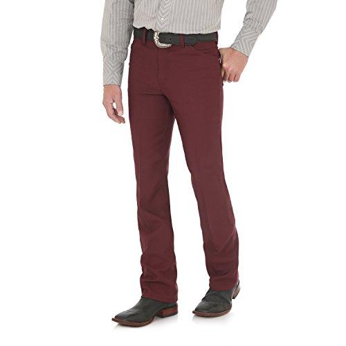 - Wrangler Men's Wrancher Dress Jean, Burgundy, 38X30