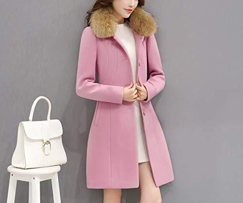 Femme Coupe Et D'hiver Ab Pour D'automne Rose vent Coton Longue Femmes Femmes Chaud Laine En Manteau D'hiver Mince Veste XI44wqH6Ox