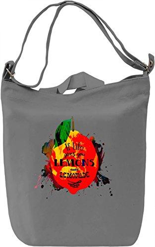 Lemons Borsa Giornaliera Canvas Canvas Day Bag| 100% Premium Cotton Canvas| DTG Printing|