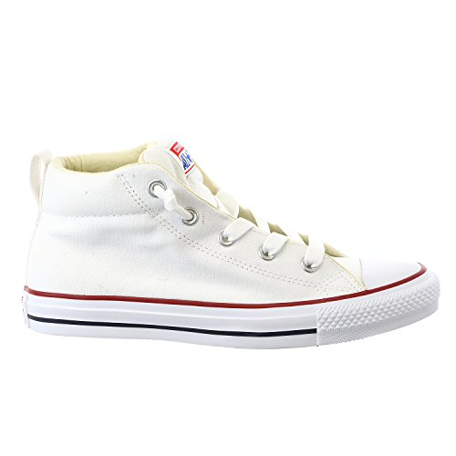 CONVERSE Unisex Chuck Taylor Street Mid Fashion Sneaker Shoe – White/Natura – Mens – 9