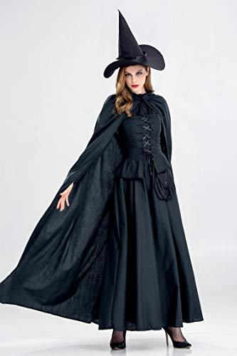 Costume Halloween Sorcire XSQR Cape Noir Batman Black Femme Cosplay 0nT7qp