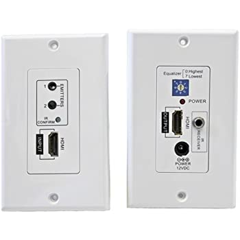 00ac497e4be Amazon.com  HDMI over Cat 5 IR Repeater Extender Wall Plate  Electronics